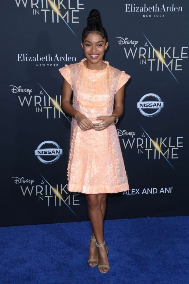 Yara Shahidi - 'A Wrinkle in Time' Premiere in Los Angeles
