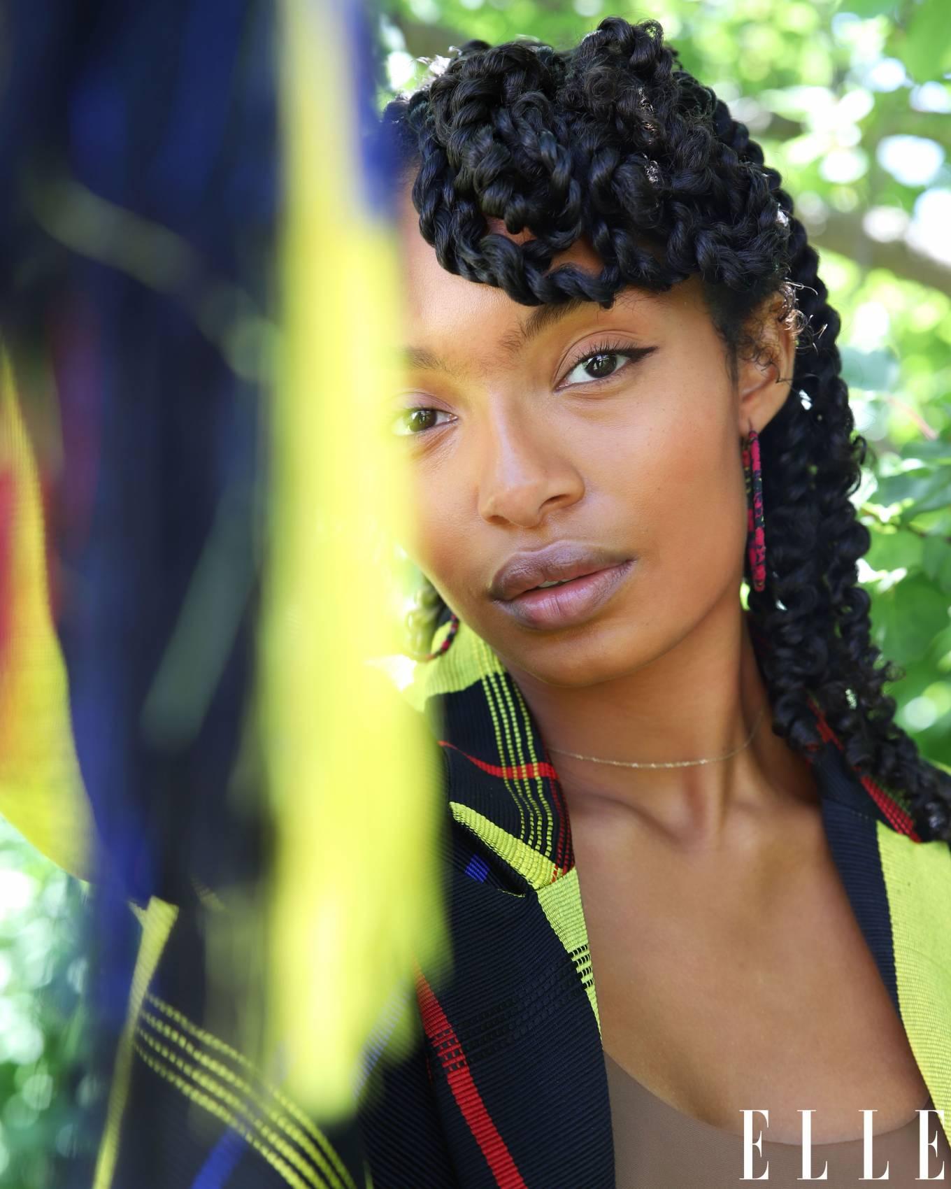 Yara Shahidi 2020 : Yara Shahidi – Afshin Shahidi Photoshoot for Elle Magazine 2020-04