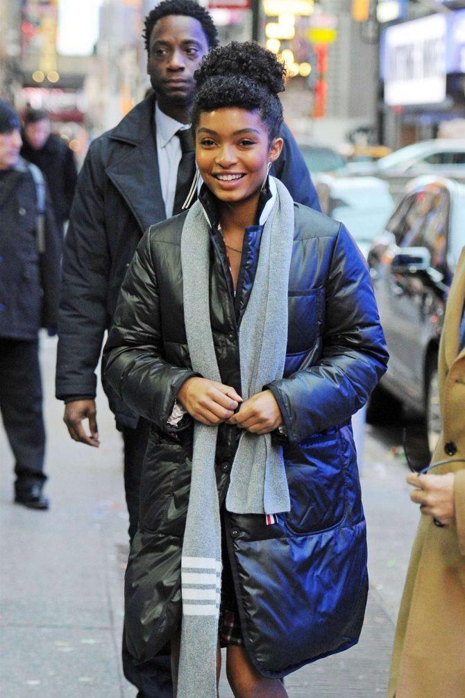 Yara Shahidi - Arrives at 'Good Morning America' in NYC