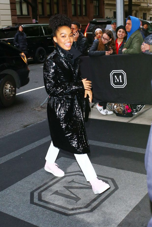 Yara Shahidi - Arriving to the Mark Hotel in New York