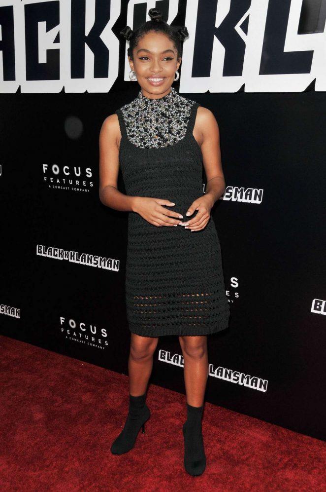Yara Shahidi - 'BlacKkKlansman' Premiere in Los Angeles