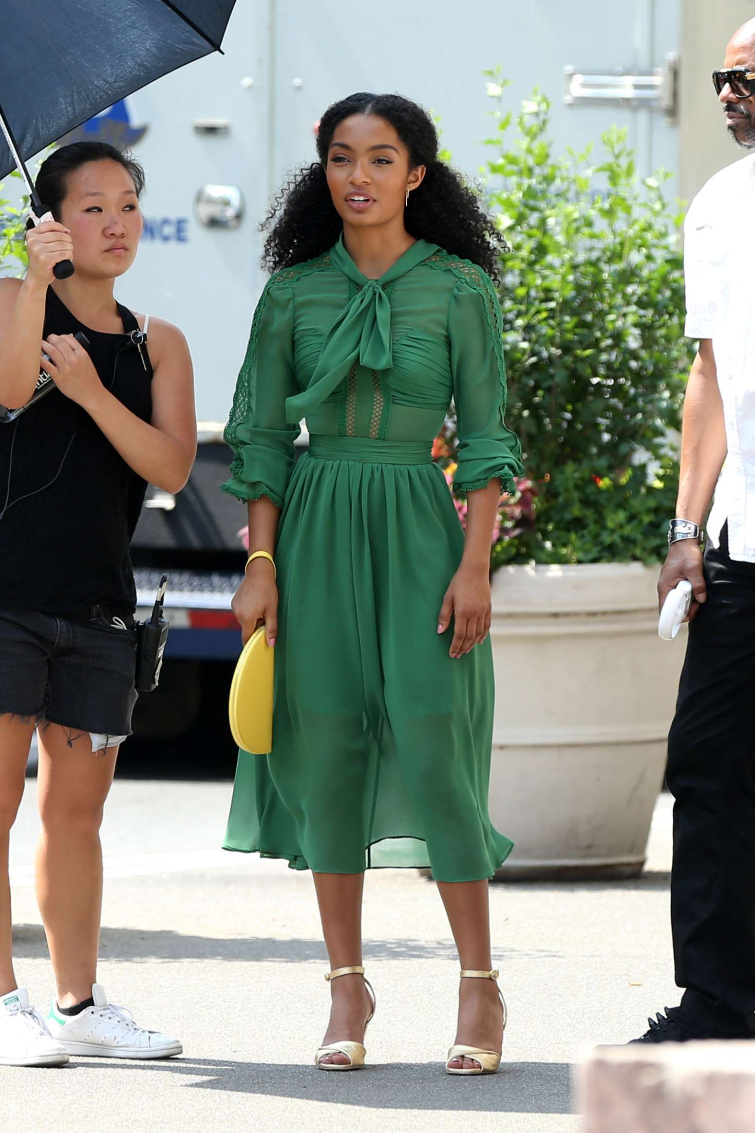 Yara Shahidi - Filming 'The Sun is also a Star' in New York