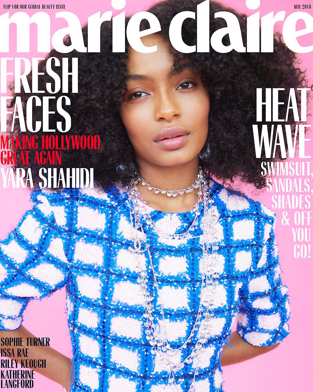 Yara Shahidi - Marie Claire US Magazine (May 2018)