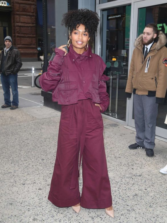 Yara Shahidi - Outside Build Series in New York