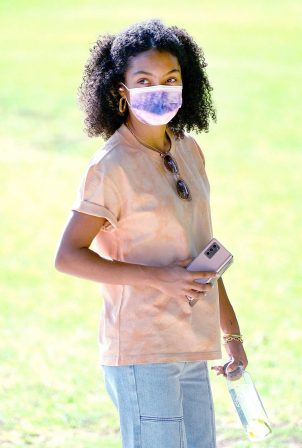 Yara Shahidi - Seen while out and about in Pasadena