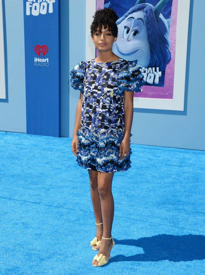 Yara Shahidi - 'Smallfoot' Premiere in Los Angeles