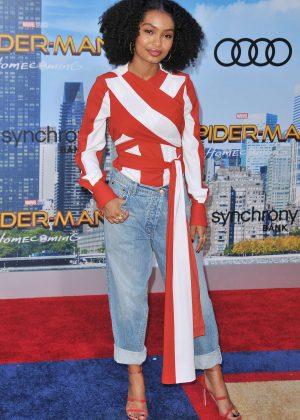 Yara Shahidi - 'Spider-Man: Homecoming' Premiere in Hollywood