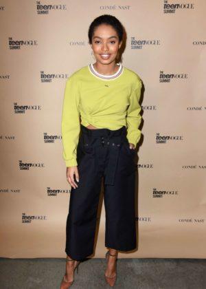 Yara Shahidi - The Teen Vogue Summit LA: Keynote Conversation with Hillary Clinton in Playa Vista
