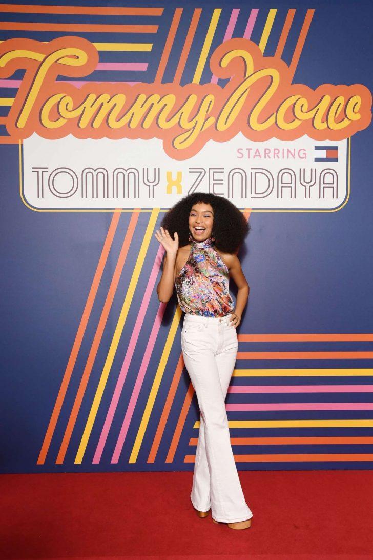 b1f28ffe Yara Shahidi: Tommy Hilfiger TOMMYNOW Spring 2019: starring Tommy x Zendaya  Premiere -01