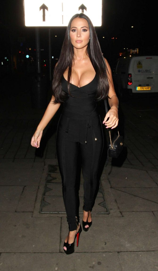 Yazmin Oukhellou at Faces Nightclub in London