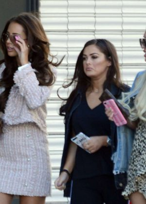 Yazmin Oukhellou Courtney Green and Amber Turner out in Barcelona