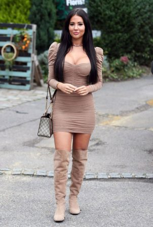 Yazmin Oukhellou - on the set of 'The only way is Essex' in Essex