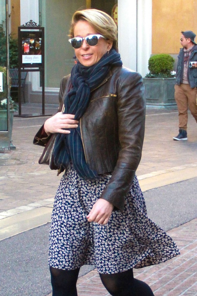 Yeardley Smith Shopping at The Grove in West Hollywood
