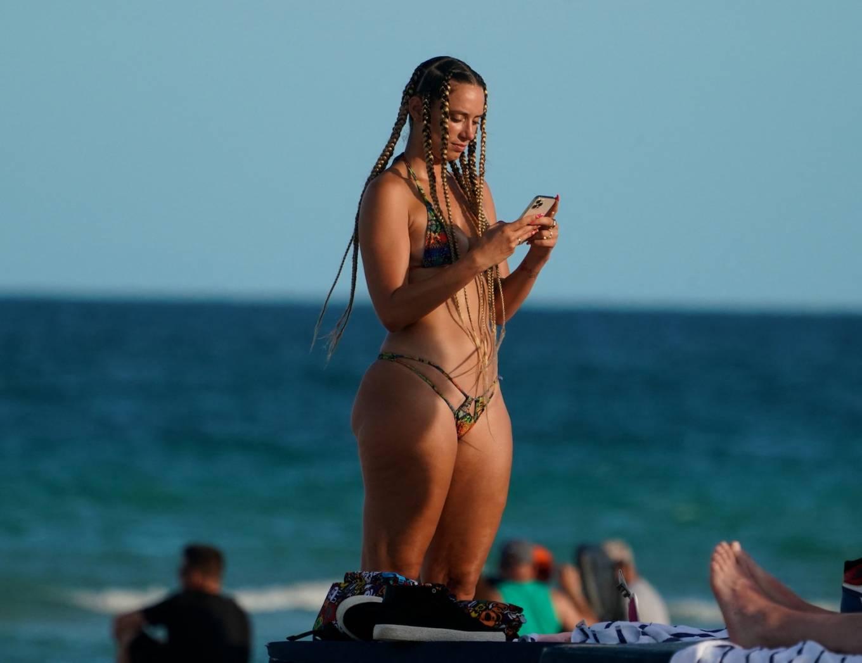 YesJulz 2021 : YesJulz – In a bikini at the beach -03
