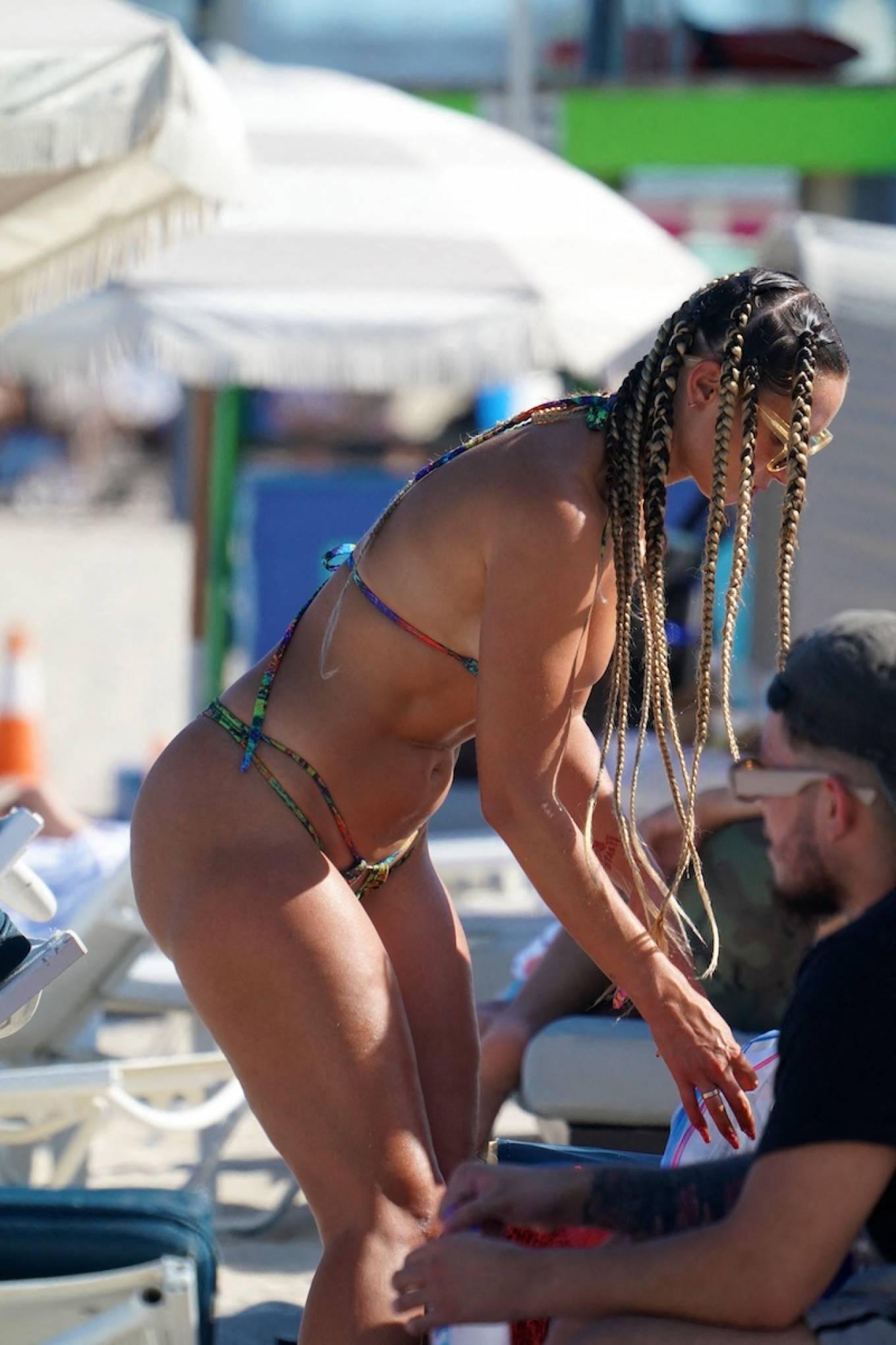 YesJulz 2021 : YesJulz – In a bikini at the beach -08