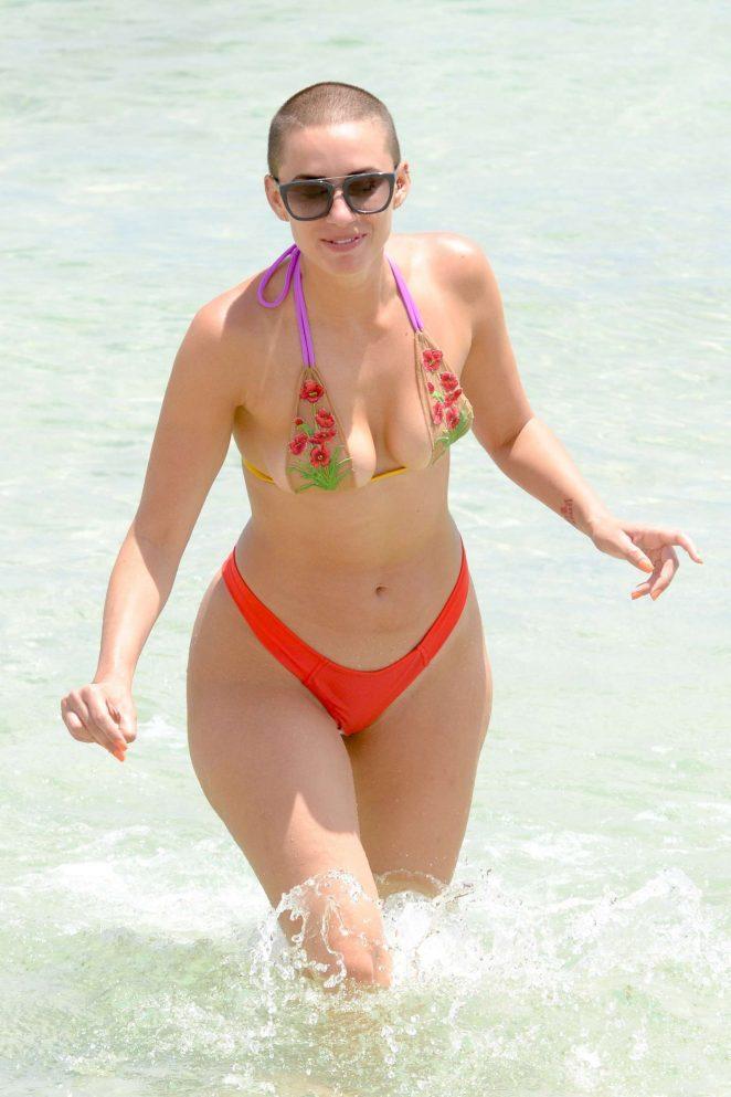 YesJulz in Pink Bikini in Miami Beach Pic 28 of 35
