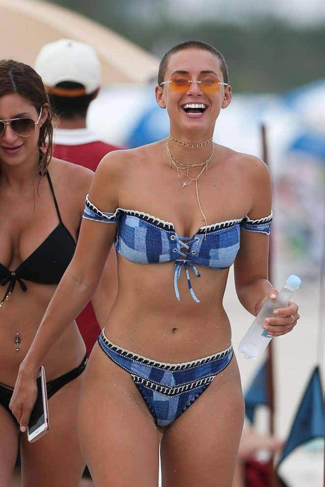 YesJulz in Bikini on the beach in Miami