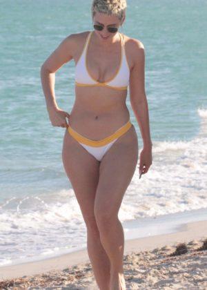 YesJulz in Bikini on the beach in Miami