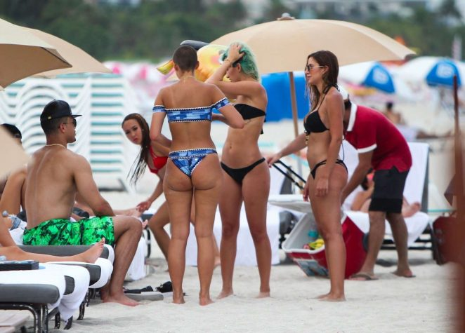 YesJulz in White Bikini on the beach in Miami Pic 27 of 35