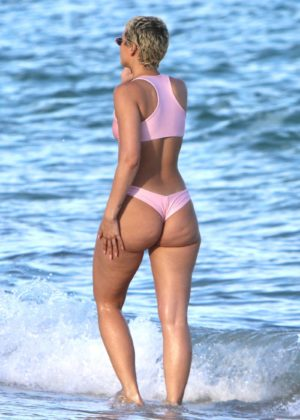 YesJulz in Pink Bikini in Miami Beach Pic 9 of 35