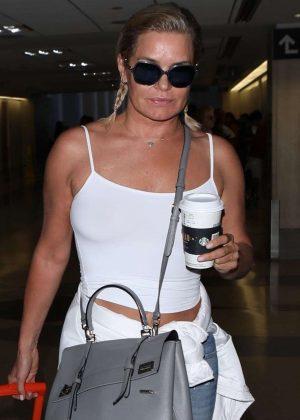Yolanda Hadid at LAX International Airport in Los Angeles