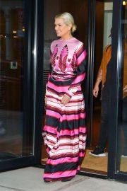 Yolanda Hadid - Leaves Gigi Hadid's Apartment in NYC