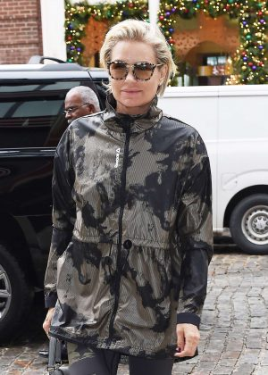 Yolanda Hadid Leaving Reebok Panel in NYC