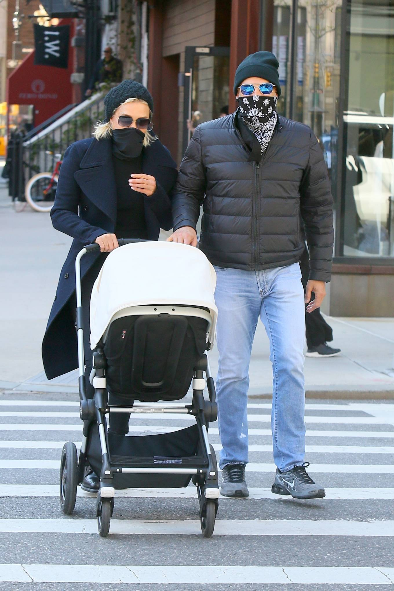 Yolanda Hadid - out for a stroll on Gigi's birthday in New York