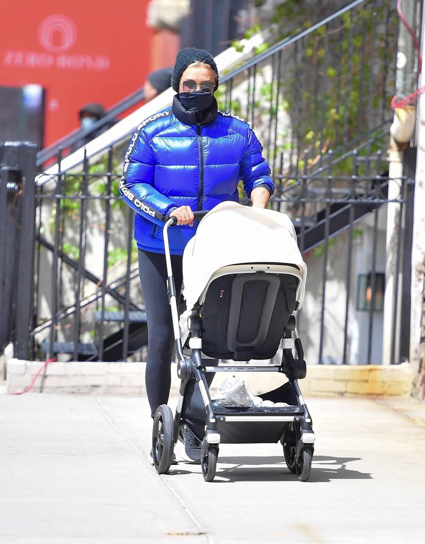 Yolanda Hadid - pushes granddaughter Khai in a stroller through New York