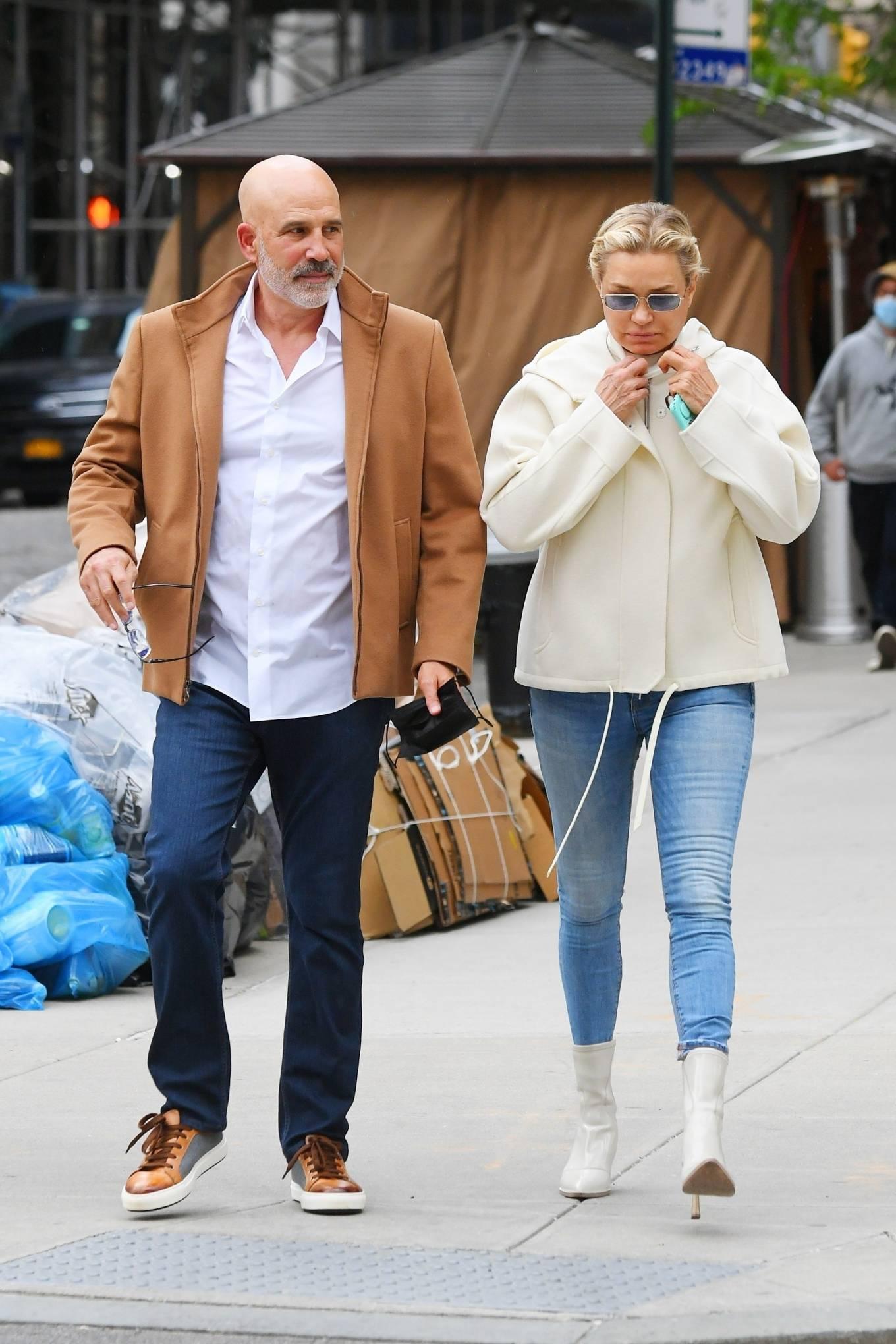 Yolanda Hadid 2021 : Yolanda Hadid – Seen leaving her apartment in New York-18