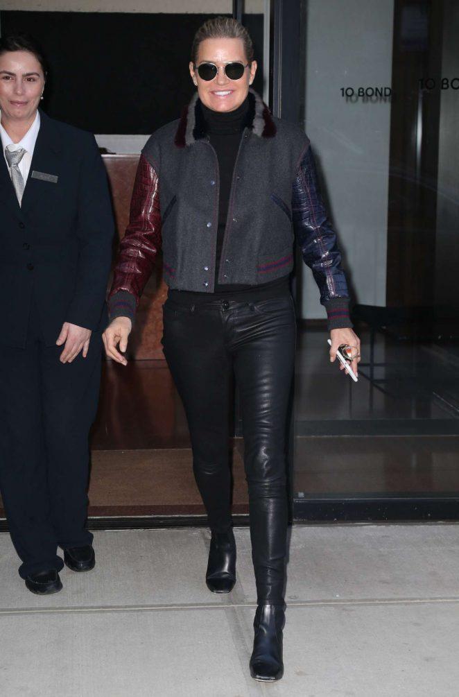 Yolanda Hadid Stepping out in New York