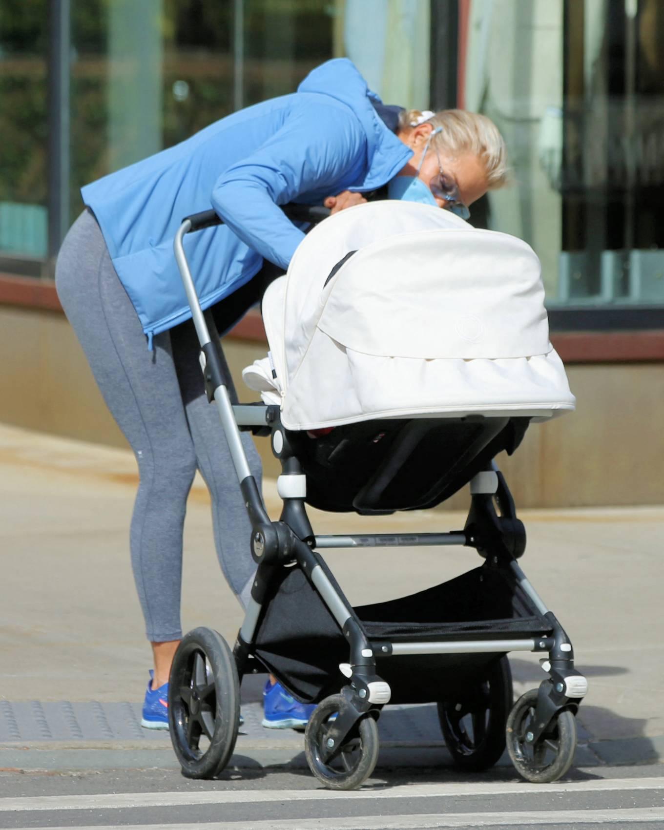 Yolanda Hadid - With her granddaughter Khai Hadid Malik out in Soho in New York