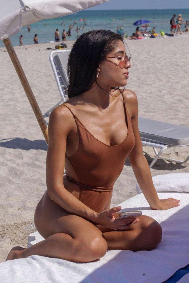 Yovanna Ventura in Swimsuit on the beach in Miami