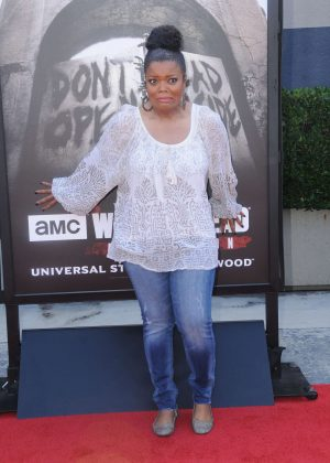 Yvette Nicole Brown - 'The Walking Dead' Permanent Daytime Attraction Press Event in Universal City