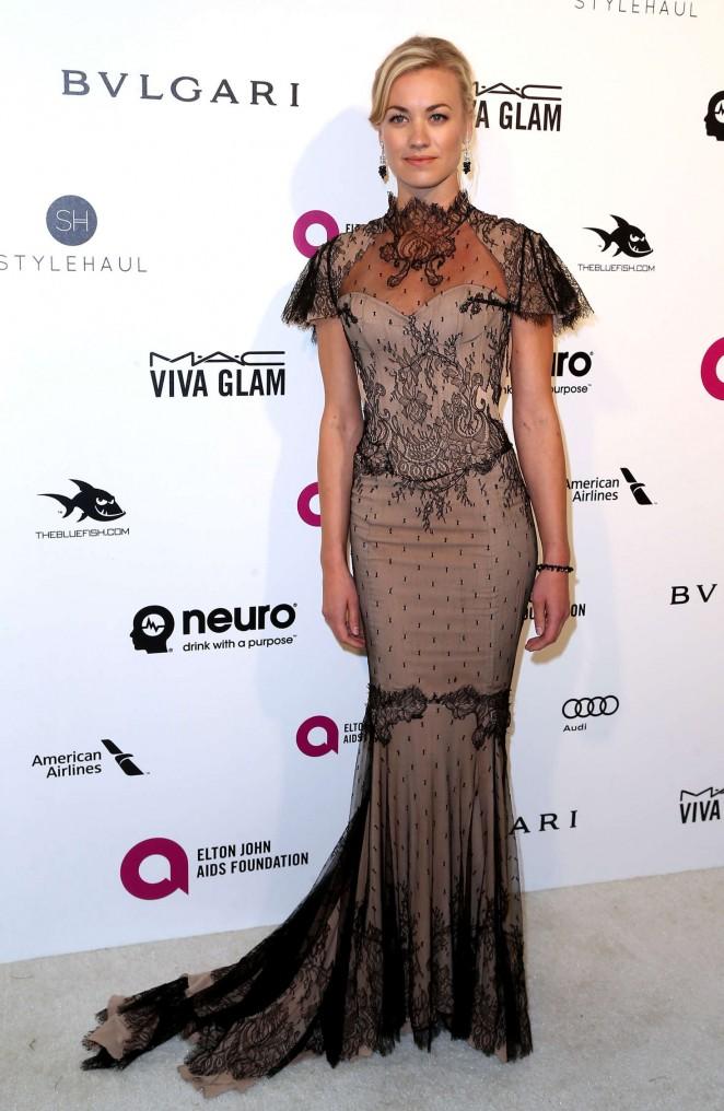 Yvonne Strahovski: 2016 Elton John AIDS Foundations Oscar Viewing Party -02