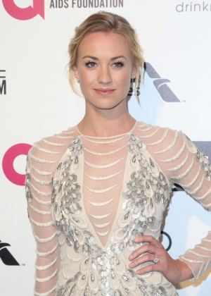 Yvonne Strahovski - Oscars 2015 - Elton John AIDS Foundation Academy Awards Party