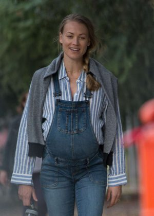 Yvonne Strahovski and Noomi Rapace - Filming 'Angel Of Mine' in Melbourne