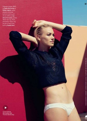 Yvonne Strahovski - GQ Australia Magazine (February 2015)