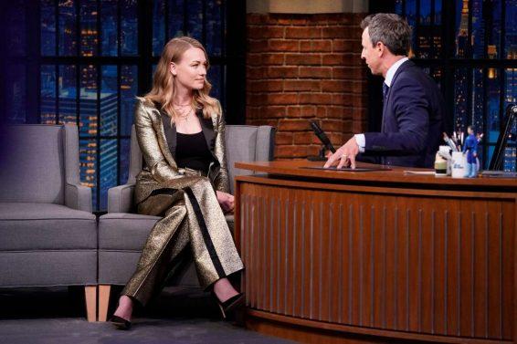 Yvonne Strahovski 2019 : Yvonne Strahovski – on Late Night with Seth Meyers in NYC-01
