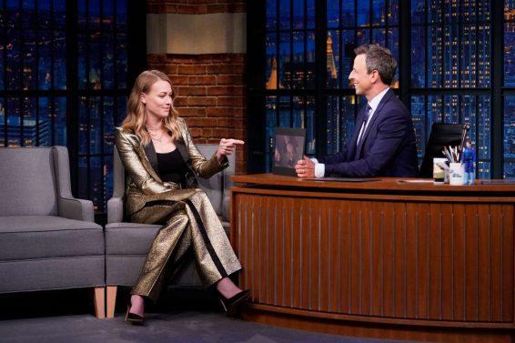 Yvonne Strahovski 2019 : Yvonne Strahovski – on Late Night with Seth Meyers in NYC-03