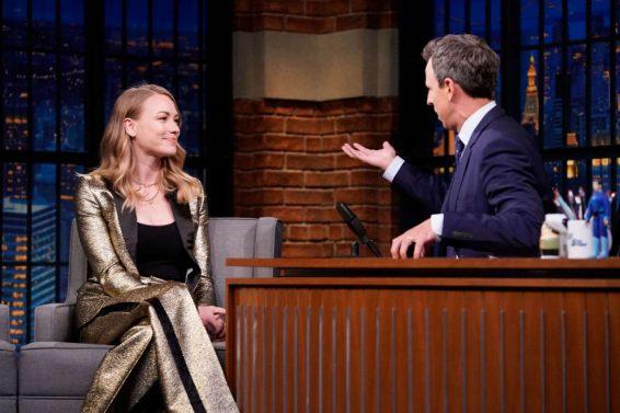 Yvonne Strahovski 2019 : Yvonne Strahovski – on Late Night with Seth Meyers in NYC-04