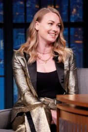 Yvonne Strahovski - on 'Late Night with Seth Meyers' in NYC