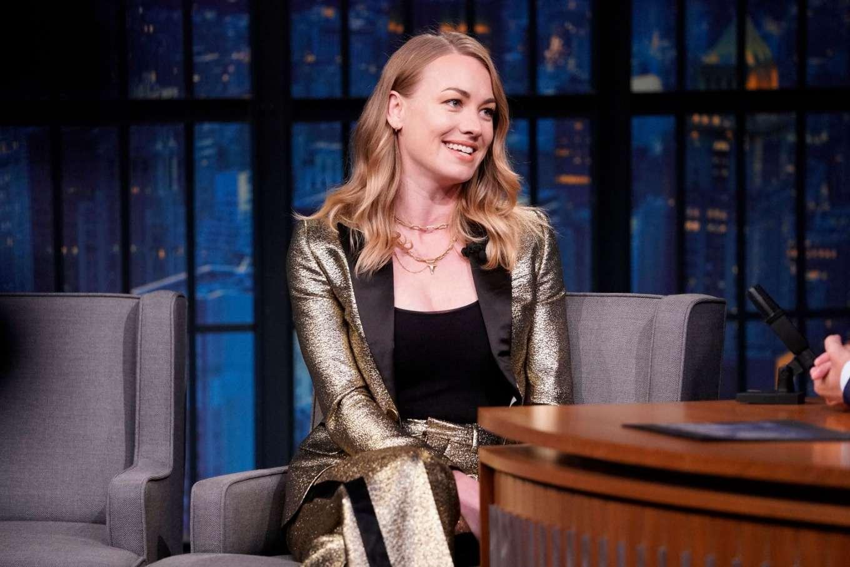 Yvonne Strahovski - on 'Late Night with Seth Meyers' in NYC