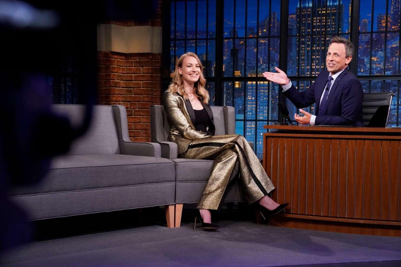 Yvonne Strahovski 2019 : Yvonne Strahovski – on Late Night with Seth Meyers in NYC-07
