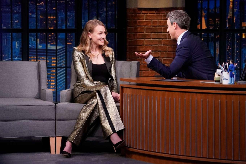 Yvonne Strahovski 2019 : Yvonne Strahovski – on Late Night with Seth Meyers in NYC-08