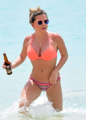 Zara Holland in Bikini on holiday in Barbados