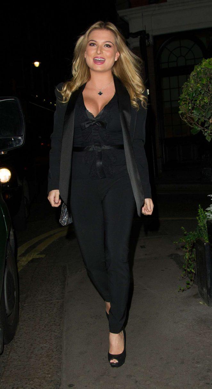 Zara Holland in Black Suit -05