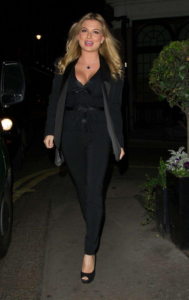 Zara Holland in Black Suit -07