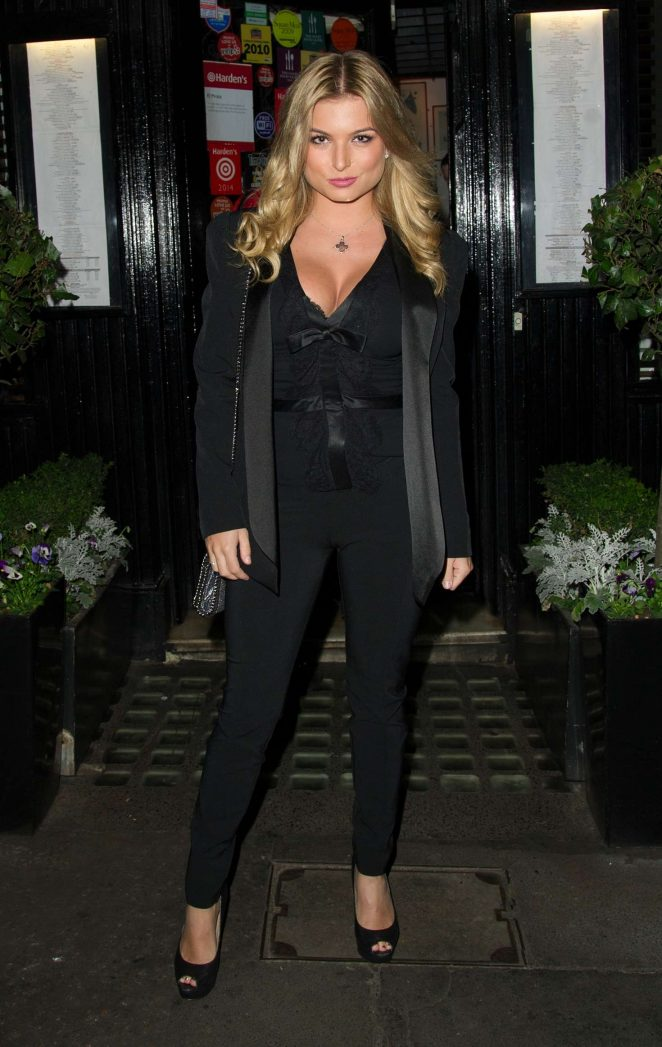 Zara Holland in Black Suit -08