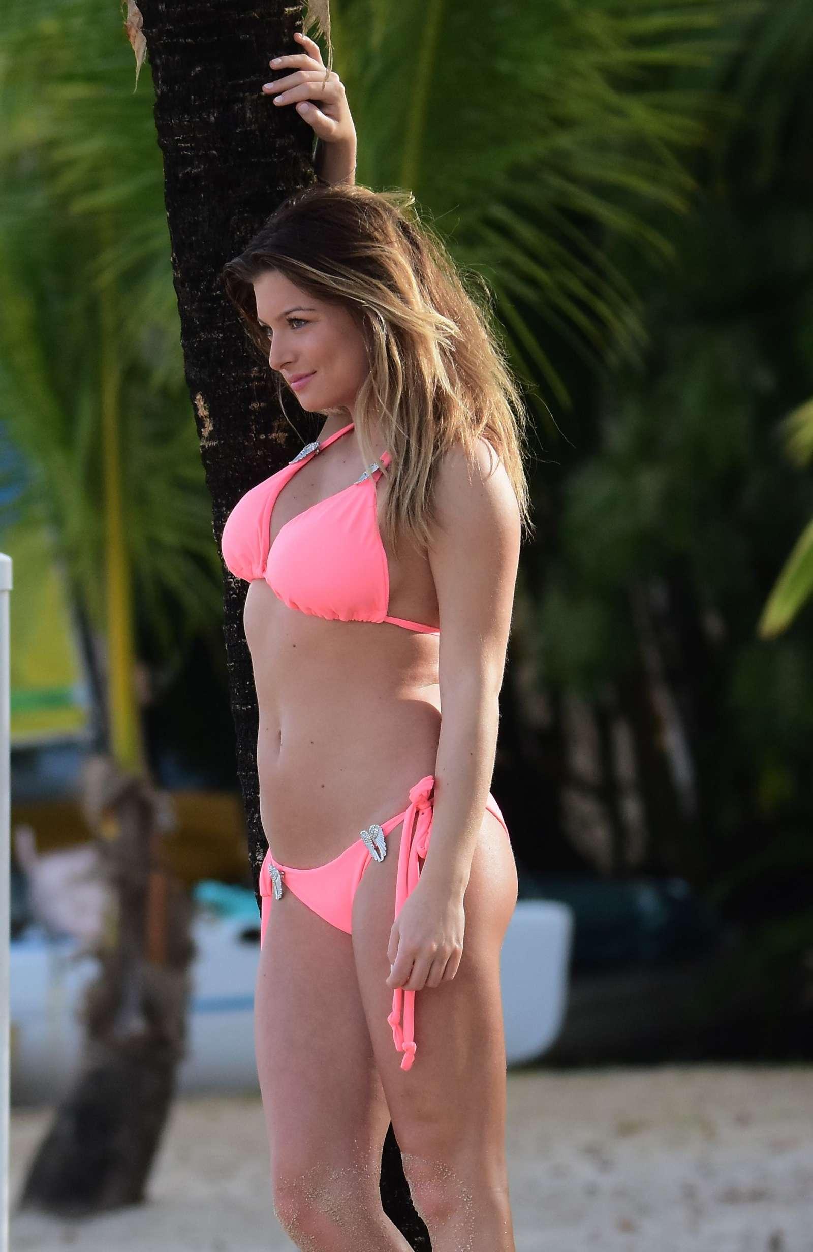 Zara Holland Pink Bikini Shoot Barbados
